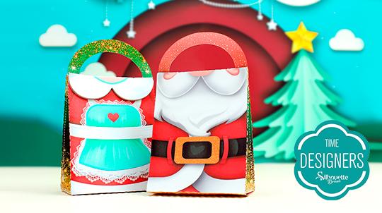 Sacolinha de Natal Personalizado de Natal na Silhouette