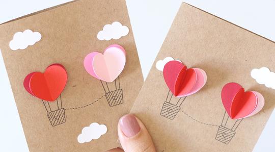 Cartão 3D de Dia dos Namorados