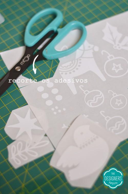 adesivos de natal com a silhouette