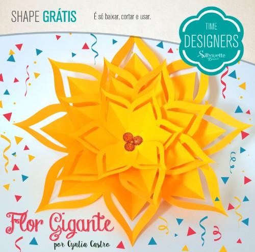 Como Fazer Flor De Papel Gigante Molde Grátis Blog