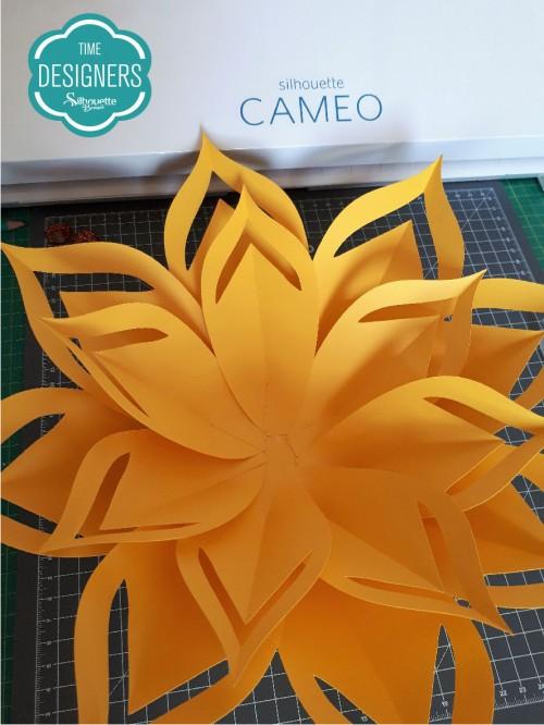 Como Fazer Flor de Papel Gigante - Molde Grátis