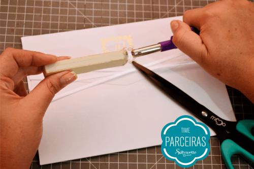 Como Fazer Hot Stamping - aplicar cera em convite de casamento