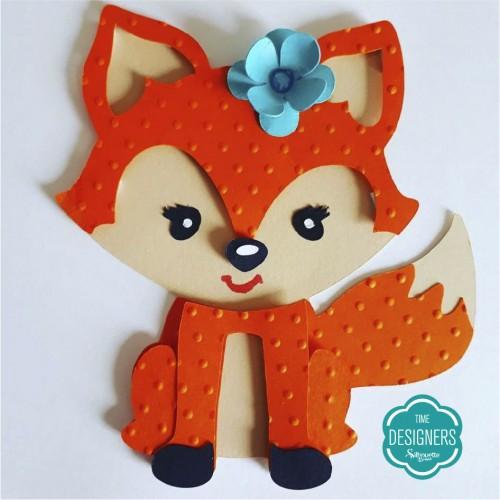Máquina de Emboss - raposinha personalizada com relevo