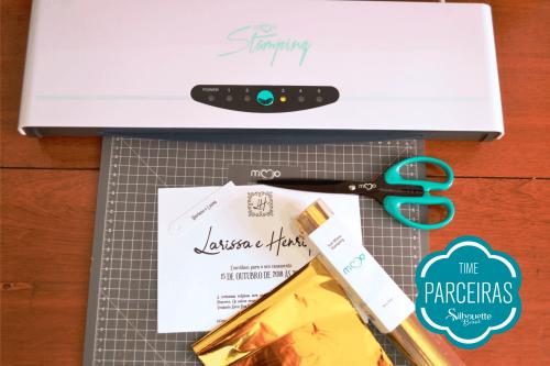 Como Fazer Hot Stamping - passo a passo convite de casamento com a Mimo Stamping