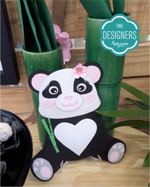Máquina de Emboss - panda personalizado com relevo