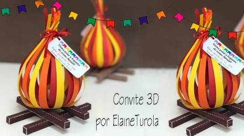 Cinco Ideias para Festa Junina - convite 3D