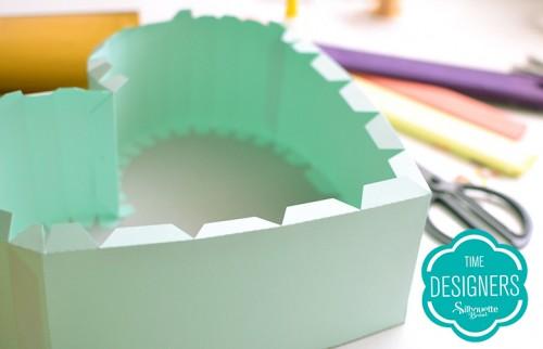 Decoração Chá de Revelação - como fazer pinãta de papel com a Silhouette