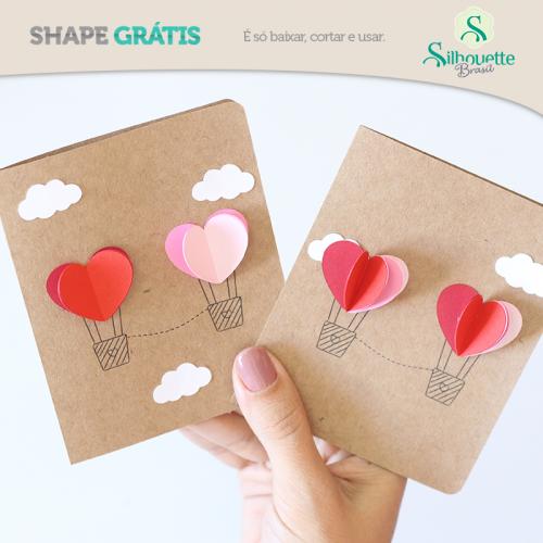 Cinco Ideias para o Dia dos Namorados - cartão 3D