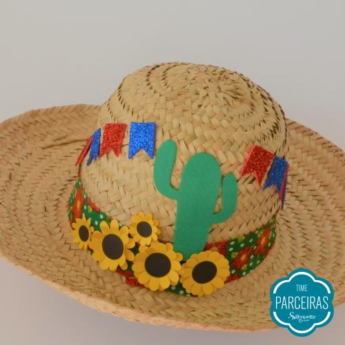 Enfeites Colados - Chapéu de Palha Personalizado - Diy Festa Julina