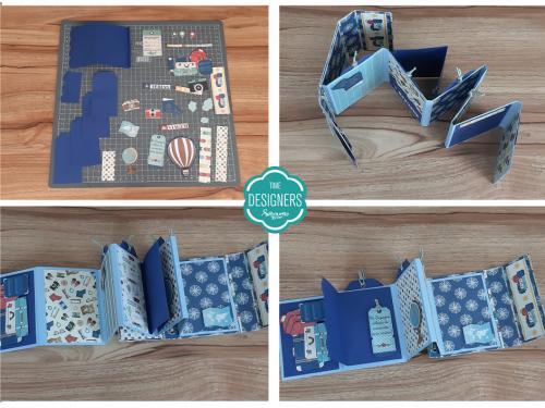 Partes Pequenas Cortadas - Como Fazer Vinco: DIY Mini Álbum de Scrapbook