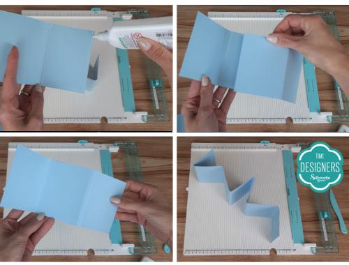 Colando o Papel: Como Fazer Vinco - DIY Mini Álbum de Scrapbook