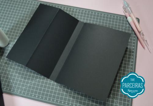 Quebra Cabeça Brilha no Escuro - DIY com Shape Grátis - Retângulos que formarão a capa da Caixa Tablet unidos