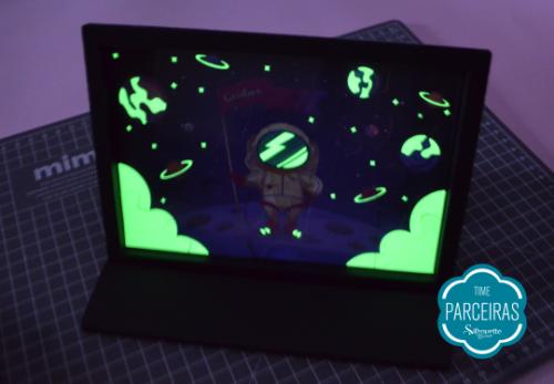 Quebra Cabeça Brilha no Escuro - DIY com Shape Grátis - Quebra-cabeça brilhando no escuro na Caixa Tablet