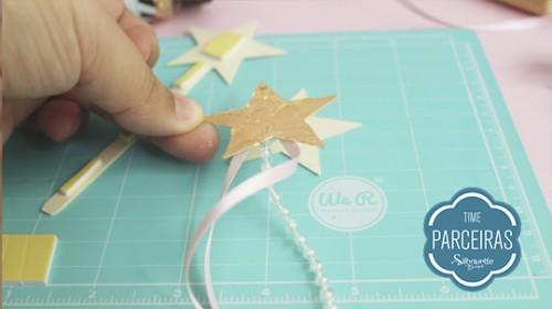 DIY Convite de Aniversário Infantil - C/ Efeito Metalizado - Acabamento da Estrela