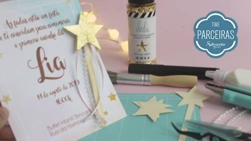 DIY Convite de Aniversário Infantil - C/ Efeito Metalizado - Convite Pronto