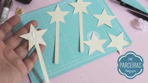 DIY Convite de Aniversário Infantil - C/ Efeito Metalizado - Corte no Silhouette Studio
