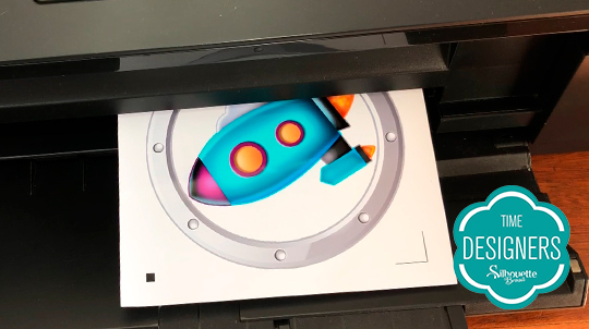 Como Fazer Topo de Bolo com Shaker na Silhouette - DIY - Impressão