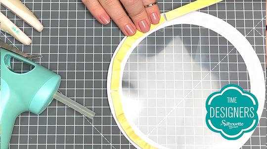 Como Fazer Topo de Bolo com Shaker na Silhouette - DIY - Fita Banana