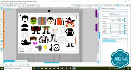 Personagens no Silhouette Studio
