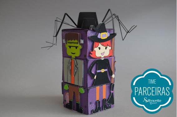 Caixa pentágono mágica de halloween finalizada