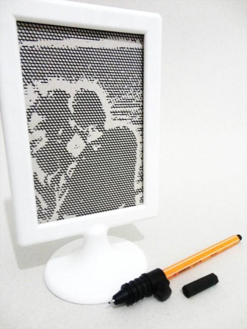 ccd2af732659a Além da Versão Designer Edition também usei o Suporte para caneta Silhouette  (acessório indispensável), com uma caneta stabilo na cor preta.