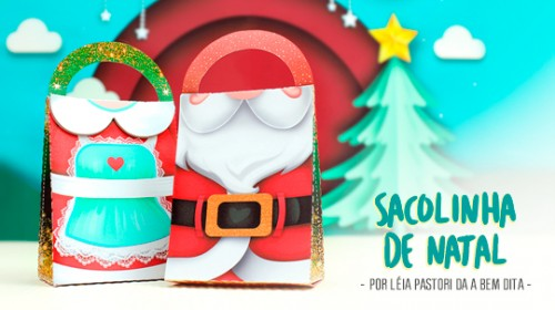 Sacolinha De Natal Moldes Gratis Blog Silhouette Brasil