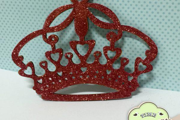 Coroa MDF decorada