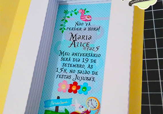 Convite Caixa Livro – Alice no País das Maravilhas