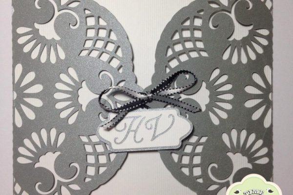 Tag com Iniciais – Convite de Casamento