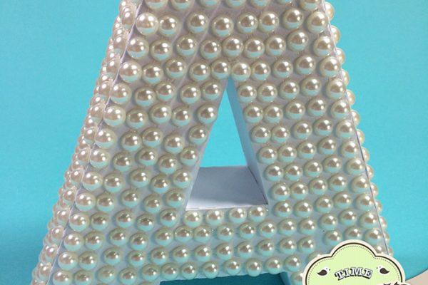 Letra 3D com Pérola