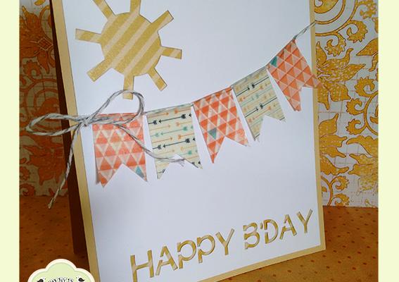 Cartão Aniversário Papel Washi