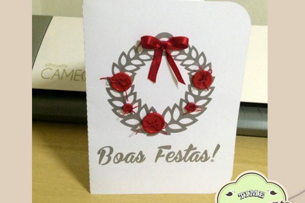 Cartão de Natal com Vinil