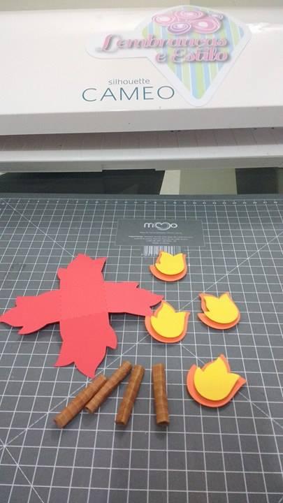 forminhas de doce feitas na silhouette