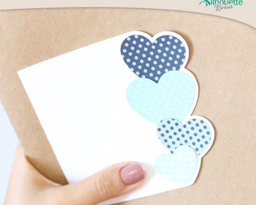 Cartão de Dia dos Namorados – Corações Azuis