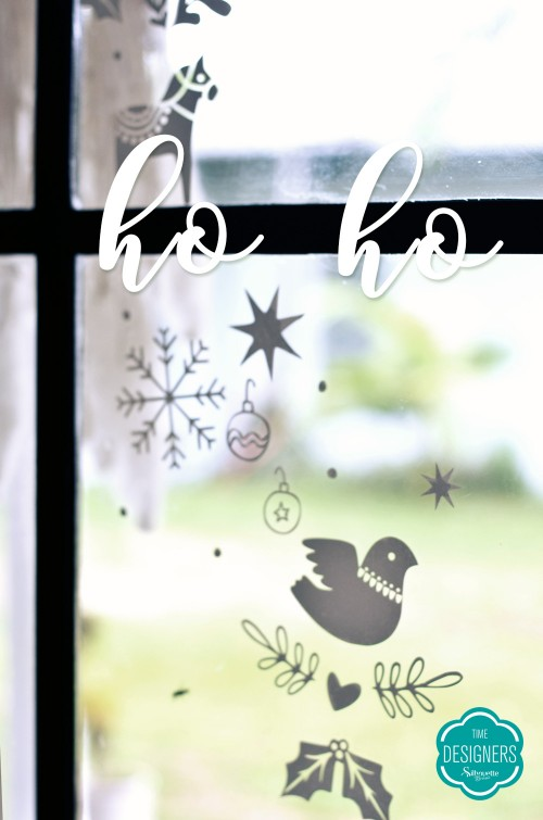adesivos de natal com a silhouette decoração de natal personalizados de natal com a silhouette