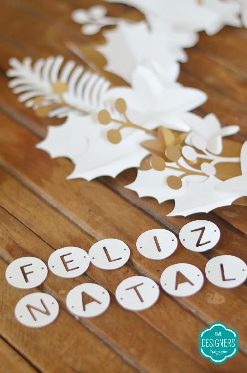 natal silhouette guirlanda de papel c/ shape grátis enfeite de natal na silhouette personalizados de natal