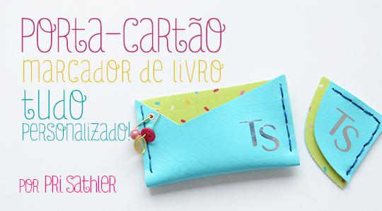 Kit Porta-Cartão + Marcador de Livro