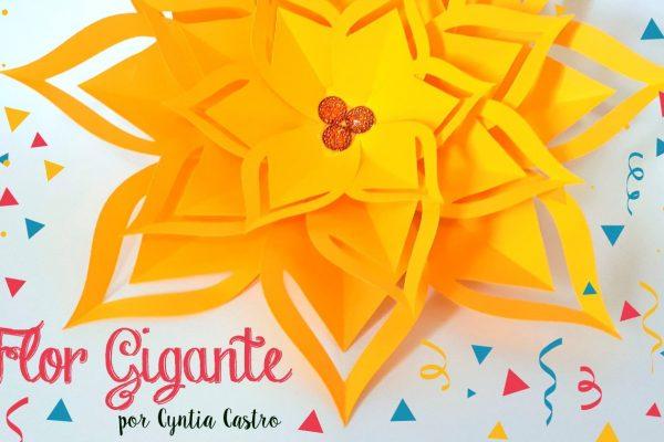 Como Fazer Flor de Papel Gigante – Molde Grátis