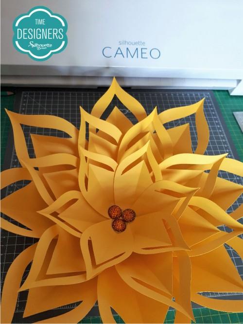 Como Fazer Flor de Papel Gigante - Molde Grátis flor gigante de papel diy flor gigante de papel flores de papel passo a passo