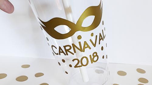 DIY Garrafinha Personalizada Para Carnaval – Molde Grátis
