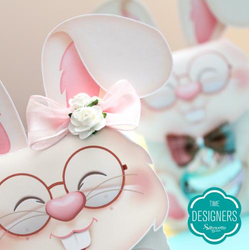 Caixa Coelho para Silhouette - Arquivo Digital GRÁTIS printable de páscoa personalizados de páscoa caixinha de páscoa caixinha coelho caixa coelho para imprimir