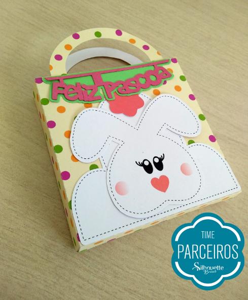 Personalizados de Páscoa - Caixa Sacolinha (Molde Grátis) caixa coelho caixa para chocolate caixa bis caixa talento caixinha de páscoa