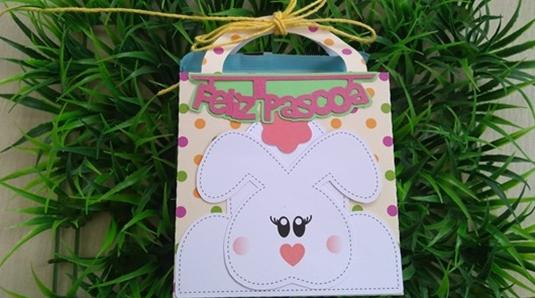 Personalizados de Páscoa - Caixa Sacolinha (Molde Grátis)