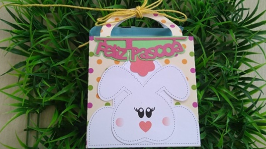 Personalizados de Páscoa – Caixa Sacolinha (Molde Grátis)