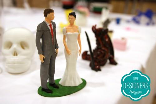 Topo bolo casamento impresso Silhouette Alta