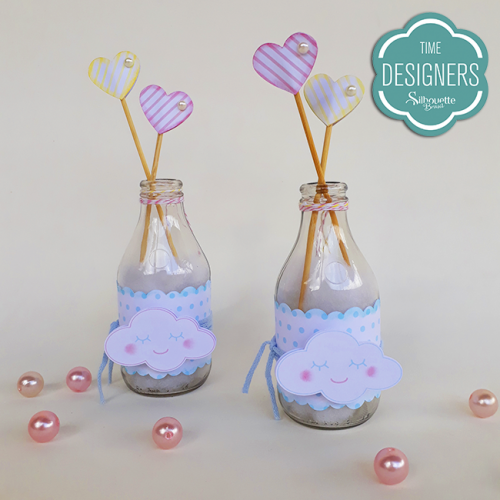 Garrafinhas Personalizadas para festa chuva de amor