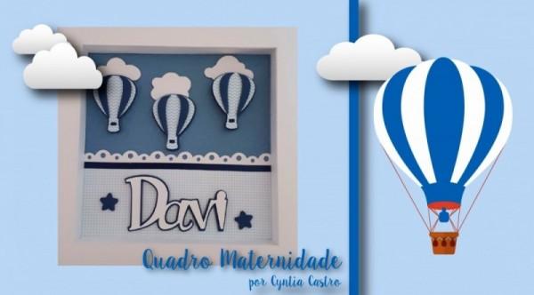 PAP Quadro Porta Maternidade - Modelo Fácil p/ Fazer em Casa