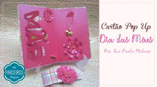 Cartão Dia das Mães 3D Porta Joia + Molde Grátis