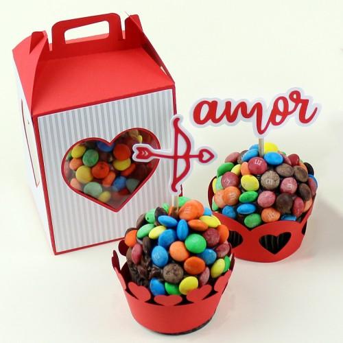 Caixinha para Dia dos Namorados Kit Sobremesa do Amor
