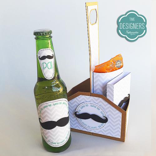 Presentes personalizados com a SIlhouette. Embalagem bebidas e petiscos personalizada